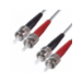 DP Building Systems OM1 ST-ST 1m ST ST Grey fiber optic cable