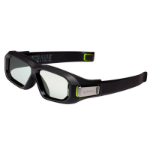 Nvidia GeForce 3D Vision 2 stereoscopic 3D glasses Black