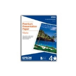 "Epson Premium Presentation Paper Matte, Borderless - 8"" x 10"" - Matte - 50 Sheet"