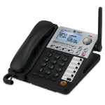 AT&T SynJ DECT telephone Caller ID Black, Grey