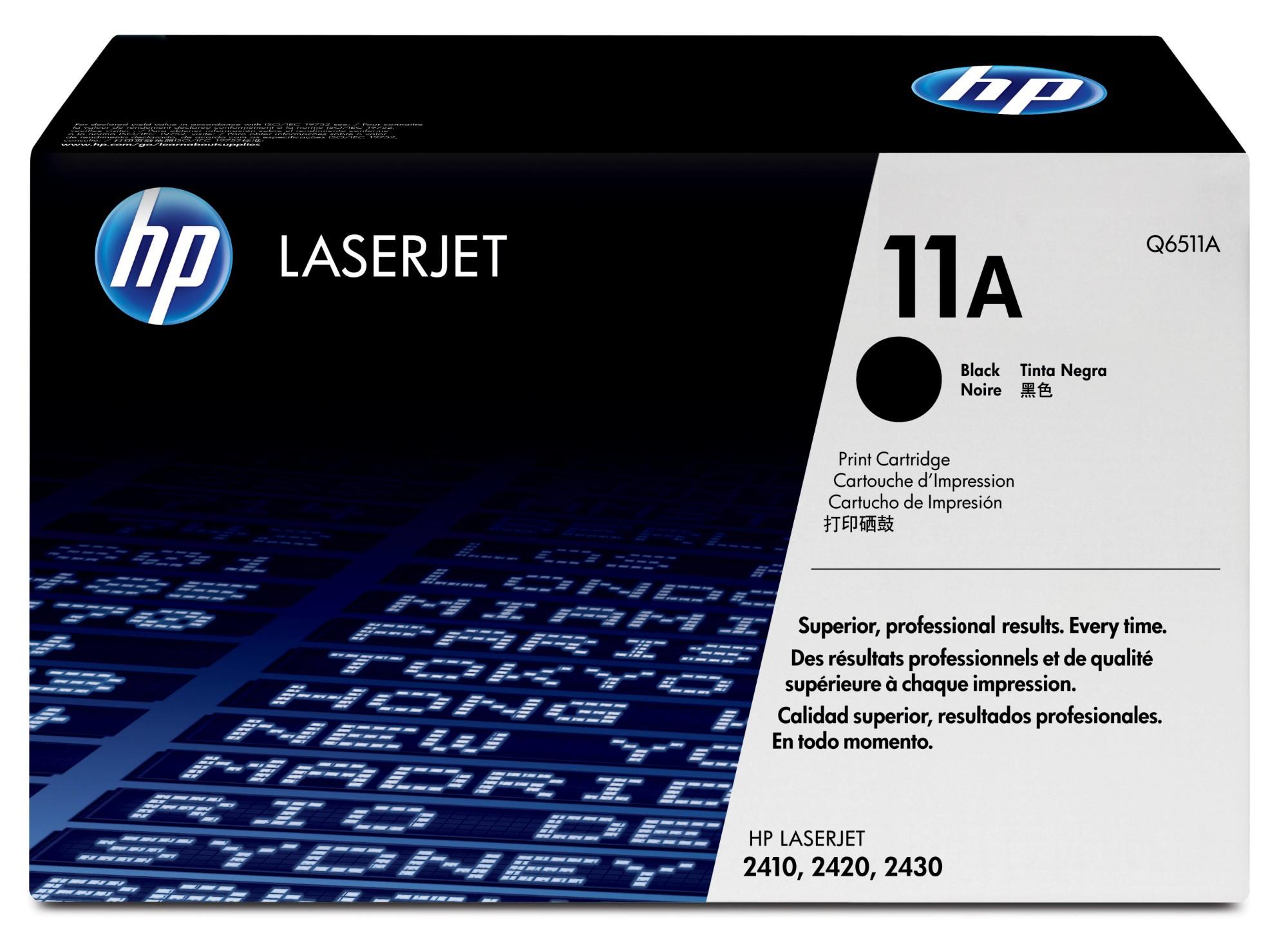 HP 11A Origineel Zwart 1 stuk(s)