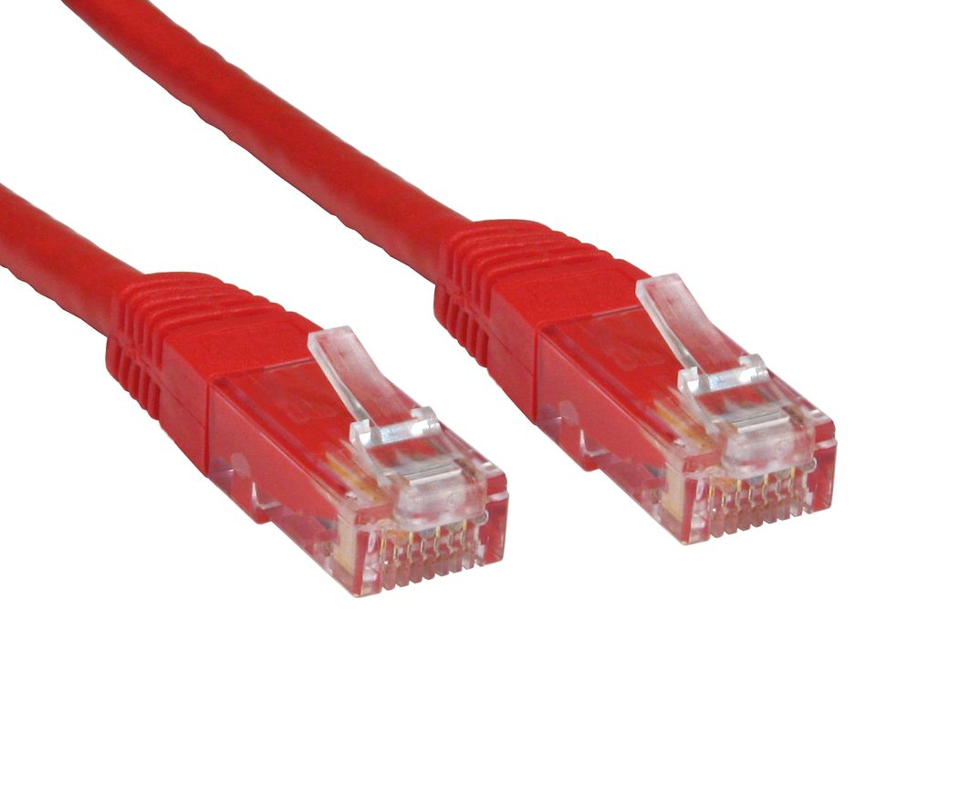 Cables Direct 0.25m Cat6, M - M networking cable U/UTP (UTP) Red