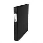 Elba Vision Ring Binder PVC Clear Front Pocket 4 O-Ring A3 Portrait Black Ref 400009729 [Pack 2]