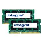 Integral 8GB (2X4GB) Laptop RAM Module DDR3 1600MHZ UNBUFFERED LOW VOLTAGE SODIMM KIT OF 2 EQV. TO CT2KIT51264BF160BJ FOR CRUCIAL memory module