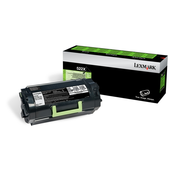 Lexmark 52D2X0E (522X) Toner black, 45K pages