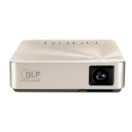 ASUS S1 Portable projector 200ANSI lumens DLP WVGA (854x480) Gold data projector