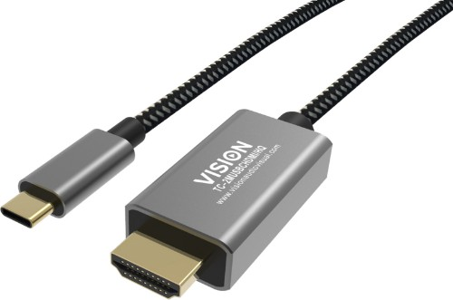 Vision TC-2MUSBCHDMI-HQ 2 m USB C HDMI Type A (Standard) Black,Grey