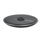 Manhattan Smartphone Wireless Charging Pad, QI certified, 10W, 7.5W and 5W charging, USB-C to USB-A cable included, USB-C input into pad, Cable 1.5m, Black, Boxed