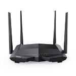 Tenda V1200 wireless router Dual-band (2.4 GHz / 5 GHz) Fast Ethernet Black