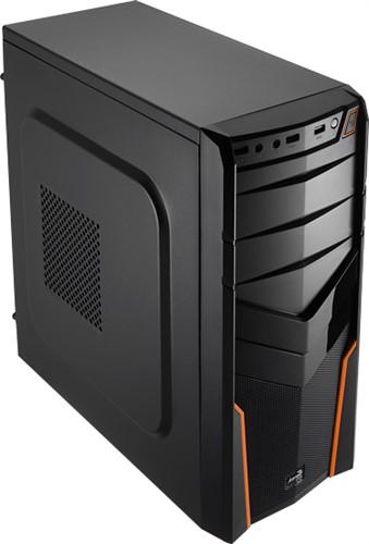 Aerocool V2X Orange Edition Midi-Tower Black,Orange