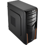Aerocool V2X Orange Edition Midi-Tower Black,Orange computer case