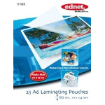Ednet 25 A6 Photo Laminating Pouches 80 Mic 25pc(s) laminator pouch