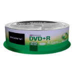 SONY DVD+R 16X SPINDLE 25 PCS