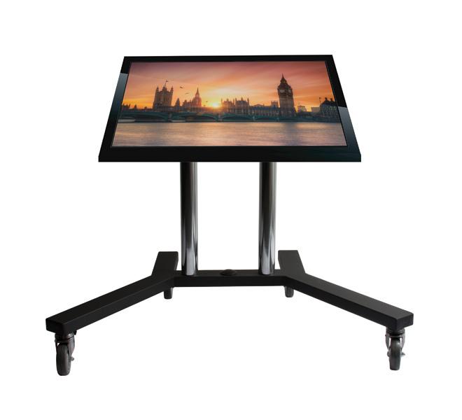 "B-Tech Flat Screen Trolley 65"" Portable flat panel floor stand Black"