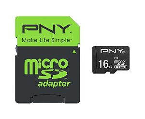 PNY 16GB High Performance MicroSDHC 80MB/s 16GB MicroSDHC UHS-I Class 10 memory card