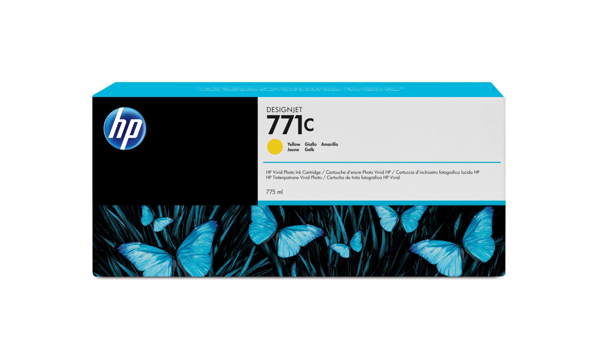 HP 771C Original Amarillo