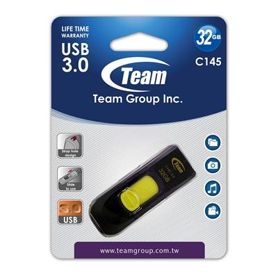 Team Group C145 32GB USB 3.0 Yellow USB Flash Drive