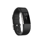 Fitbit Charge 2 OLED Wristband activity tracker Wireless Black, Stainless steel