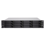 QNAP TS-1283XU-RP-E2124-8G/72TB-TE NAS/storage server Ethernet LAN Rack (2U) Black