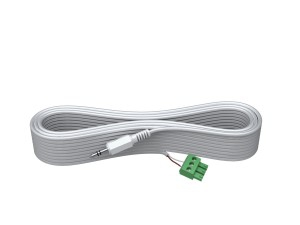Vision TECHCONNECT SPARE 15M 3.5MM MINIJACK CABLE High-Grade White Installation Cable. A moulded connector