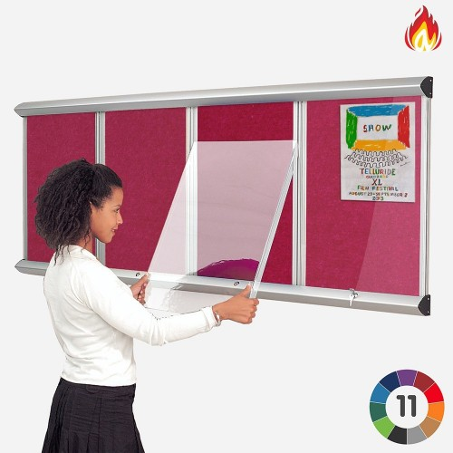 Metroplan LCL3/WH/LB insert notice board