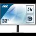 "AOC Essential-line U3277FWQ pantalla para PC 80 cm (31.5"") 3840 x 2160 Pixeles 4K Ultra HD LED Plana Mate Negro, Plata"