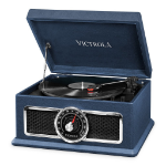 Victrola Plaza Vinyl Music Centre Black,Blue,Silver