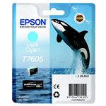 Epson C13T76054010 (T7605) Ink cartridge bright cyan, 26ml