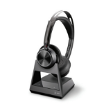 POLY Voyager Focus 2 Office Headset Head-band USB Type-A Bluetooth Charging stand Black 214260-01