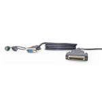 Linksys OmniView Dual Port Cable, PS/2 1.8m Black KVM cable