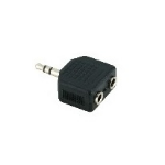 V7 Black Audio Adapter 3.5mm Male to 2 x 3.5mm Female