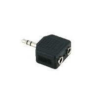 V7 V7AUD2ADPT35PLUG kabeladapter/verloopstukje 3.5 mm 2 x 3.5 mm Zwart