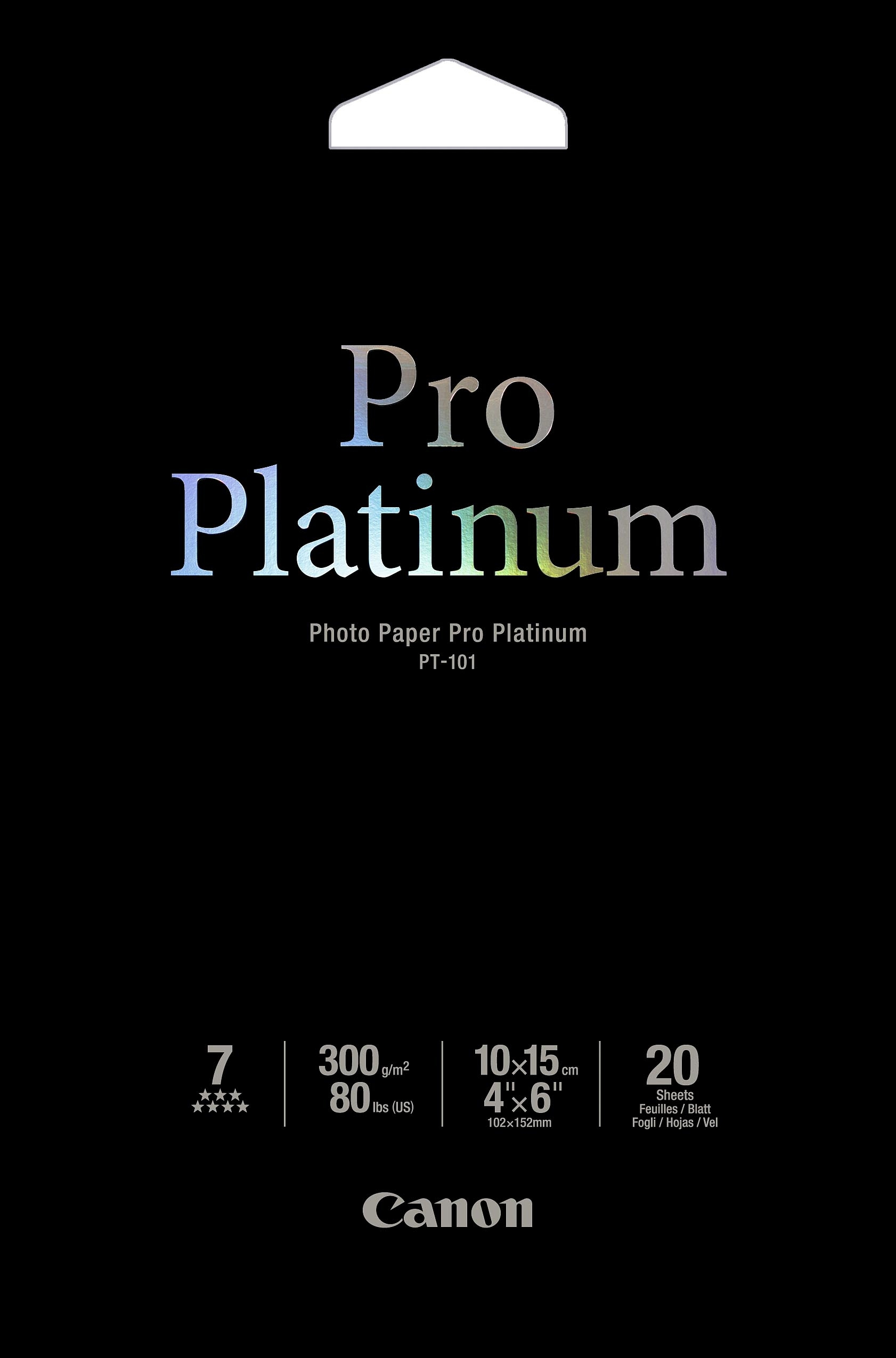 Canon PT-101 - Pro Platinum Photo 10x15cm, 20 sheets