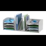 FastPaper Fast Paper Desktop Organizer 8 Comp Grey DD