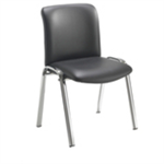 Avior Conferenc Highback Chrome Chair Black