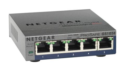 Netgear 5-Port ProSAFE Gigabit PoE Plus Managed network switch L2 Gigabit Ethernet (10/100/1000) Power over Ethernet (PoE) Grey