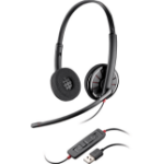 Plantronics Blackwire C320-M Binaural Head-band Black headset