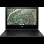 "HP Chromebook x360 11MK G3 Hybrid (2-in-1) 29.5 cm (11.6"") Touchscreen HD MediaTek 4 GB LPDDR4x-SDRAM 32 GB eMMC Wi-Fi 5 (802.11ac) Chrome OS Black"