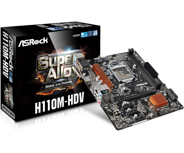 Asrock H110M-HDV motherboard