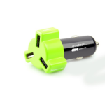 mBeat ® 3-Port USB 4.8A 24W Triple-port Rapid Car Charger - Green/ Fast Charger for Apple iPhone iPod iPad