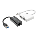 Tripp Lite P137-GHV-V2-K cable interface/gender adapter Mini DisplayPort, USB 3.0 VGA/HDMI, RJ-45 Black,White