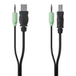 Linksys F1D9022b10 KVM cable Black, Green 3 m