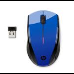 HP X3000 Cobalt Blue Wireless Mouse