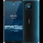 "Nokia 5.3 16.6 cm (6.55"") Dual SIM Android 10.0 4G USB Type-C 4 GB 64 GB 4000 mAh Cyan"