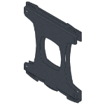 Unicol SVC2 Black flat panel wall mount