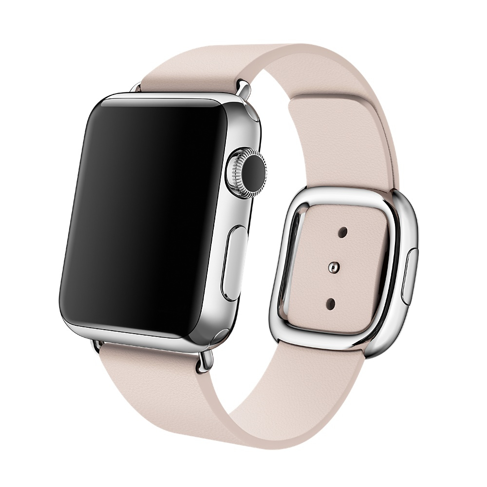 "Apple Watch 38mm Stainless Steel Case with Soft Pink Modern Buckle 1.32"" OLED 25g Stainless steel"