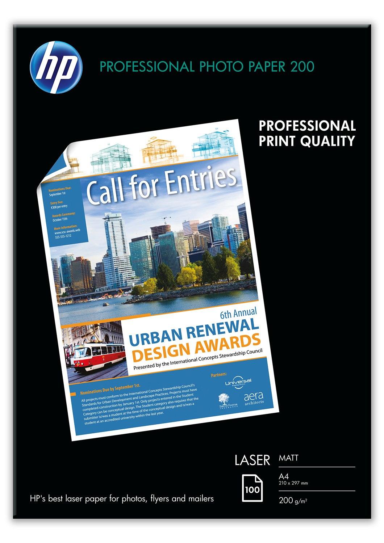 HP Q6550A papier voor inkjetprinter A4 (210x297 mm) Mat Zwart, Blauw, Wit