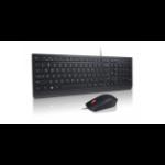 Lenovo 4X30L79917 Tastatur USB Französisch, Deutsch, Schweiz Schwarz