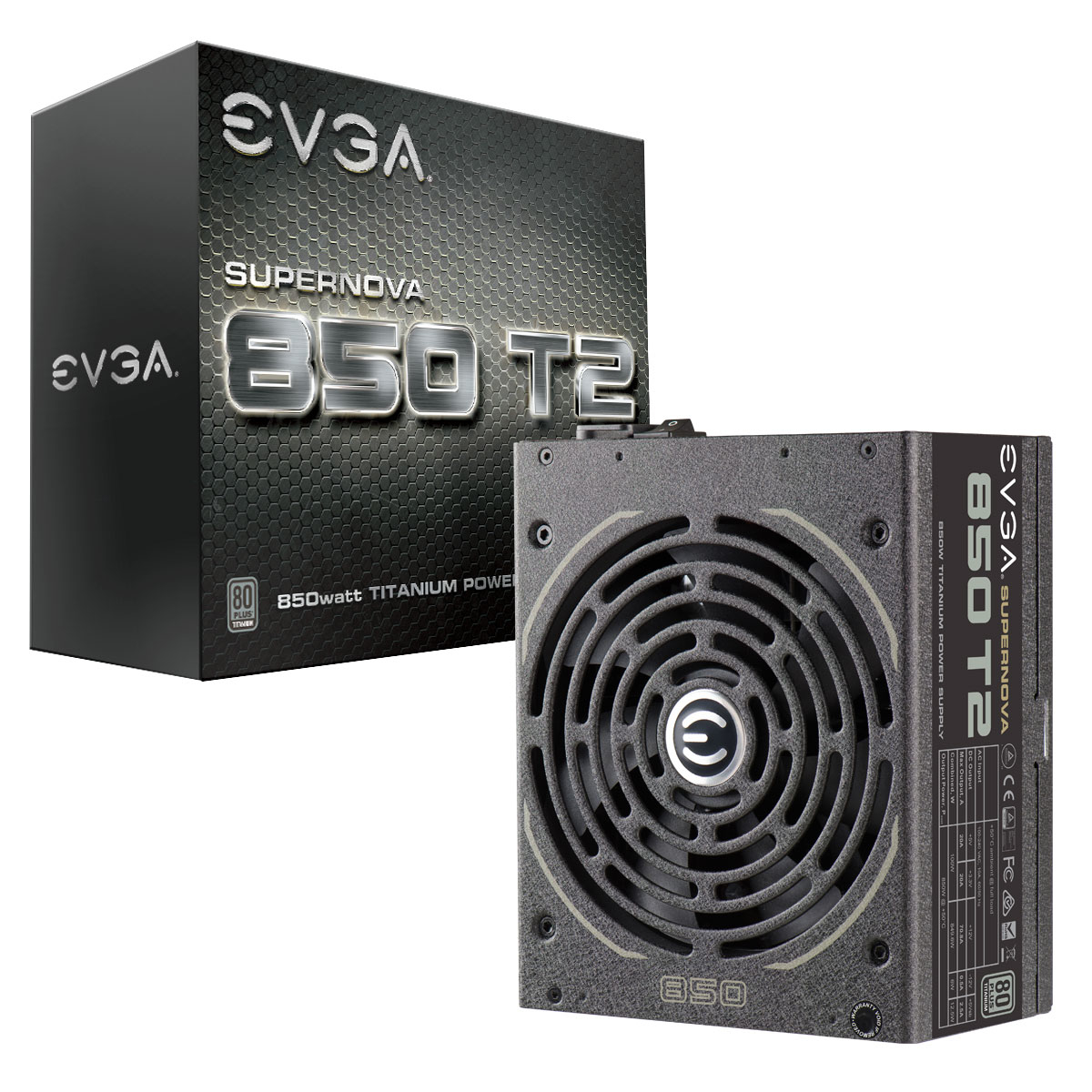 EVGA 220-T2-0850-X3 850W Black power supply unit
