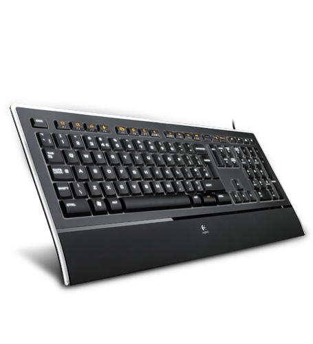 Logitech K740 keyboard USB QWERTY Pan Nordic Black